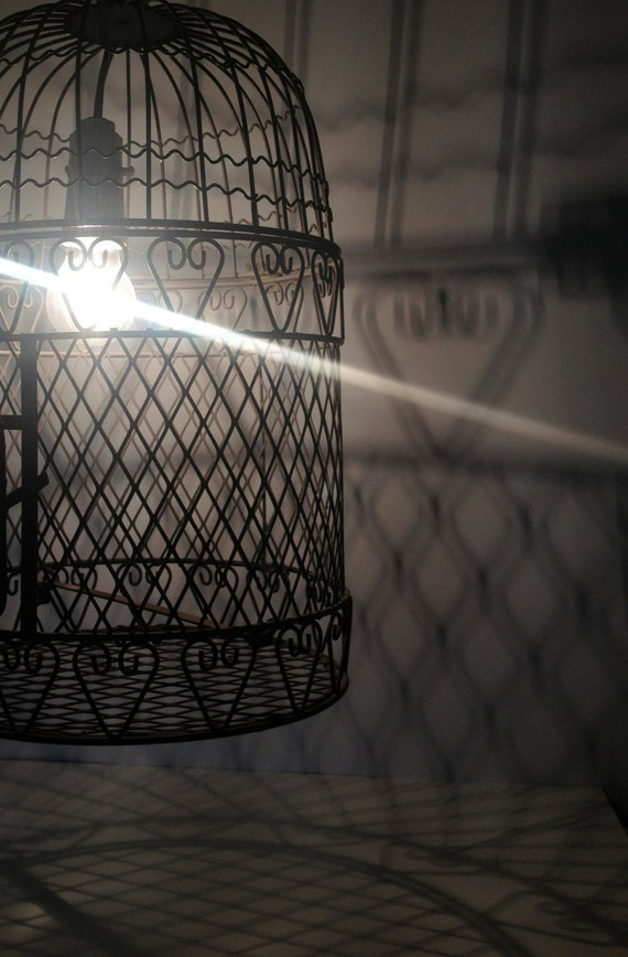 Vintage Bird Cage, beautiful love heart design. Use for decoration, lighting or wedding...