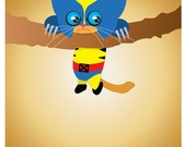 """Wolverine Kitty - Hang In there, Bub Poster - 11""""x17"""" Cute Marvel Comics X-Men print"""