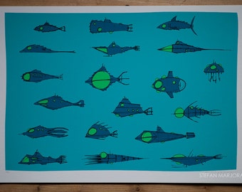 Limited Edition Signed Print - 'Nautiluses'