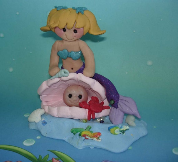 Mermaid Princess Oyster Shell Pearl Fish By Alongcameaspider1