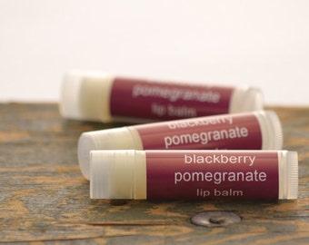 SALE - Blackberry Pomegranate Lip Balm - blackberry lip balm - summer lip balm - fruit lip balm - food lip balm - pomegranate lip balm