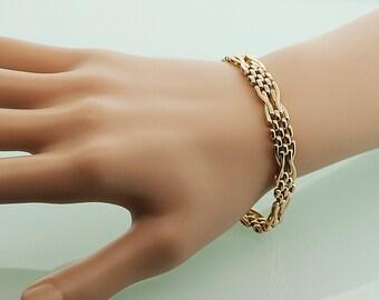 Vintage Bracelet - Vintage Rose Gold Link Bracelet
