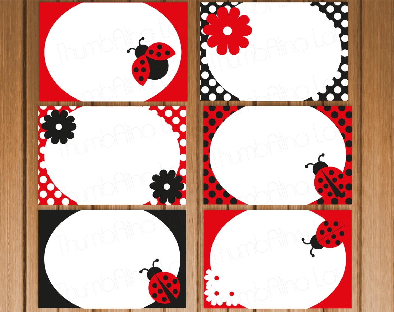 Printable Ladybug Name Labels   Search Results   Calendar 2015