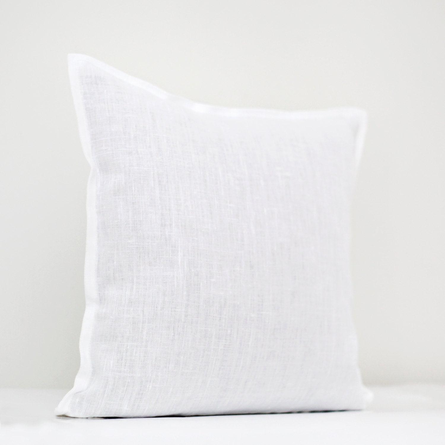 Throw Pillow White : White linen pillow cover white pillow White decorative