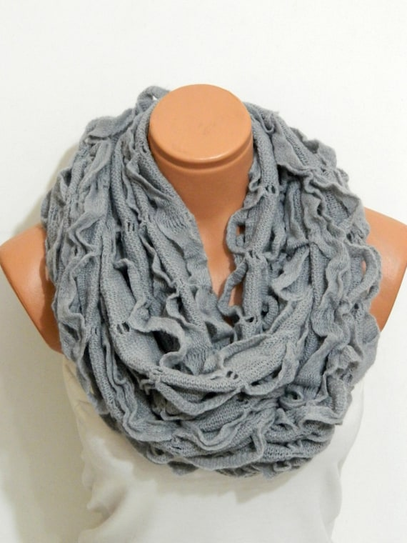 Knitting Machine Scarf Pattern : knitting machine infinity Scarf Block Infinity by WomanStyleShop