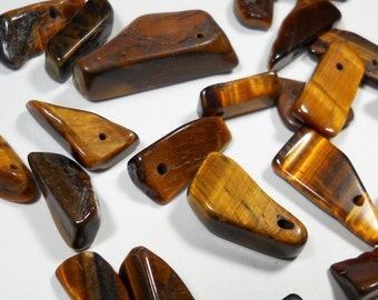 Brown Tiger Eye Nugget Chip Beads Mix Sizes of 10mm - 20mm
