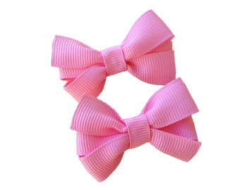 Small pigtail hair bows - small toddler hair bows, you choose color pigtail bows, baby bows, toddler bows, small bows, girls hair bows