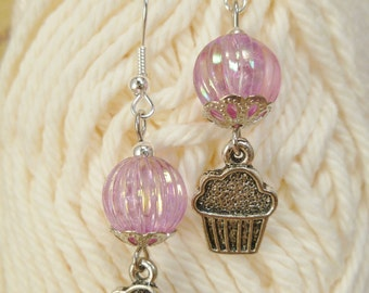 Beads & Cupcakes Dangle Earrings