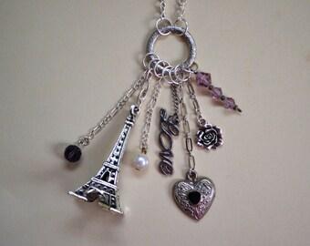 Custom Eiffel Tower Charm Necklace