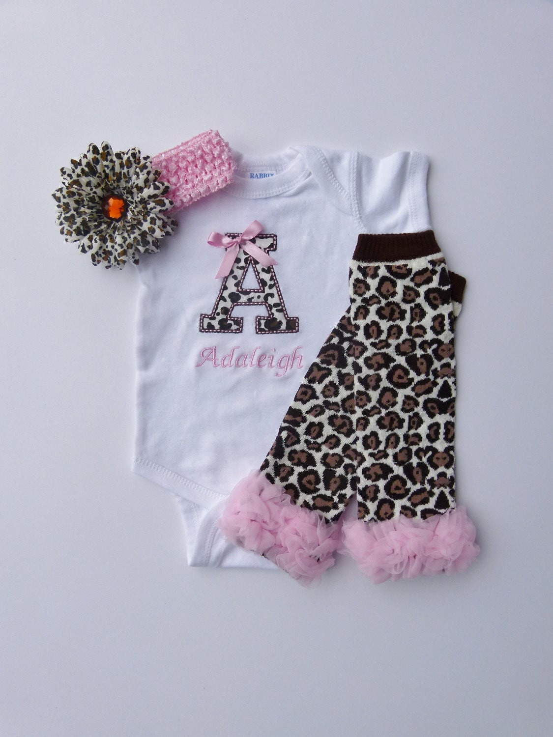 Baby Girl Clothes Personalized Bodysuit Gown by mamabijou