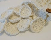 Set of 14 Face Scrubbies/Reusable Cotton Rounds with Matching Mesh Bag Crocheted with 100 % Cotton Yarn - cotton balls - face washers