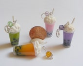 Food Jewelry Boba Tea Necklace, Bubble Tea Pendant,  Miniature Food Jewellery, Boba Tea Jewelry Mini Food Bubble Tea Jewelry, Kawaii Jewelry