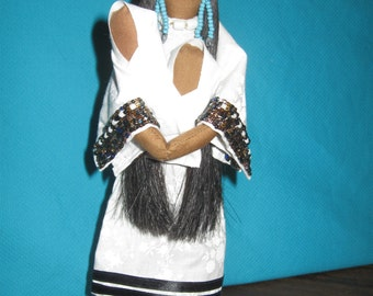 Native American Storyteller  Mother Doll - Lakota Sioux Made