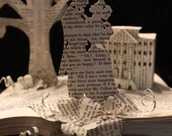 RESERVED Pride and Prejudice Book Sculpture