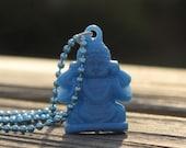 Blue Buddha Necklace, Buddha Charm, Buddhist Gift, Buddha Pendant, Buddha Jewelry, Yoga Jewelry, Yoga Gift