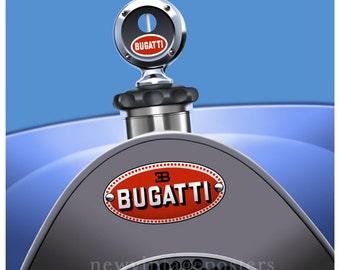 Art Deco Bugatti Poster giclee print