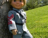 """18"""" Boy Doll Civil war uniform in Blue/Gray (south) for you little solider 18"""" doll"""