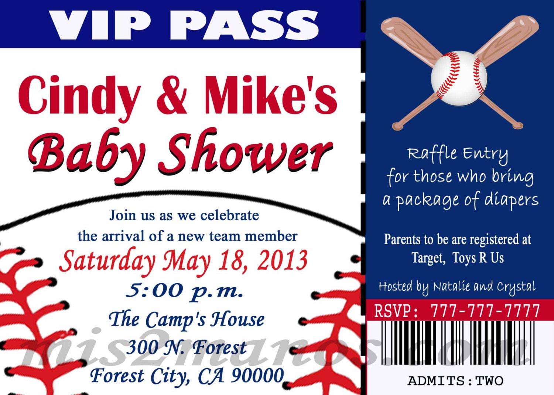 Baseball Themed Baby Shower Invitations – gangcraft.net