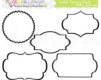 INSTANT DOWNLOAD,  label variety pack - digital frames - printable tags - graphic - image - clip art - clipart - commercial use