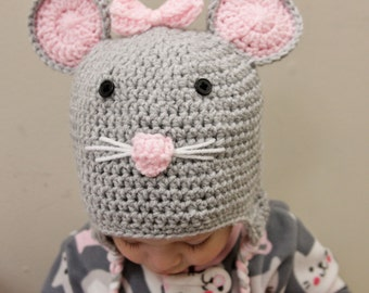 Mouse Hat - Crochet Mouse Hat