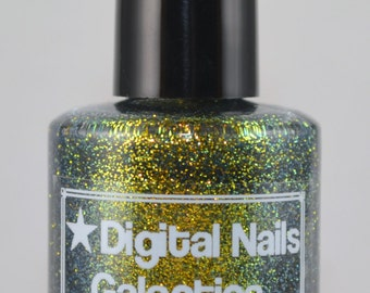 Galactica: A Multicolored shifting glitter nail lacquer by Digital Nails