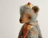 Made to order Sky Blue Teddy Bear Oleg - Bear Stuffed Animal - Soft Toys Stuffed With Love - Artist Teddy Bear
