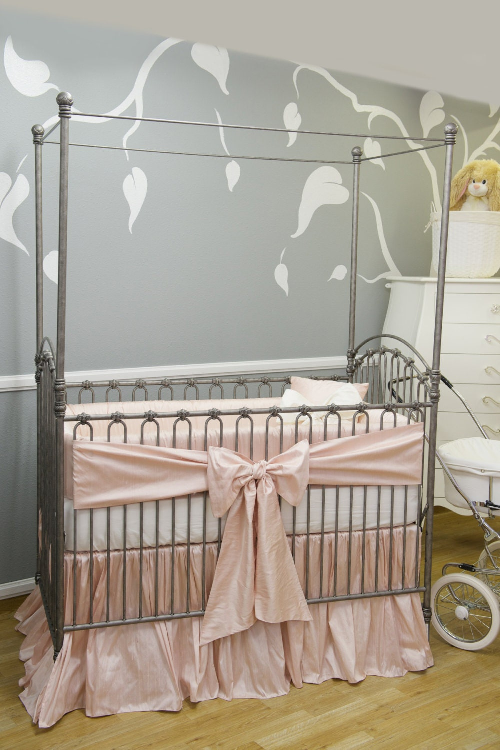 THE STORK COLLECTION: Silk Crib Bedding Crib Bedding