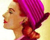 Vintage 1947 Ridged Rascal Hat 128 PDF Digital Crochet Pattern