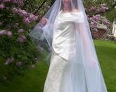 Drop veil Royal Cathedral Mantilla Veil Cut Edge Lace Edge