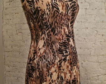 Grunge Dress - 80s/90s - Leopard Animal Print Sundress