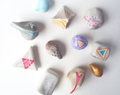 Any Two Good Luck Charms: You Choose. Stocking stuffer, Lucky stone, peach , geometric, gift, graduation, back to school