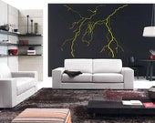 Natural Lightning and Thunders vinyl wall decal removable wall decor (ID: 171024)