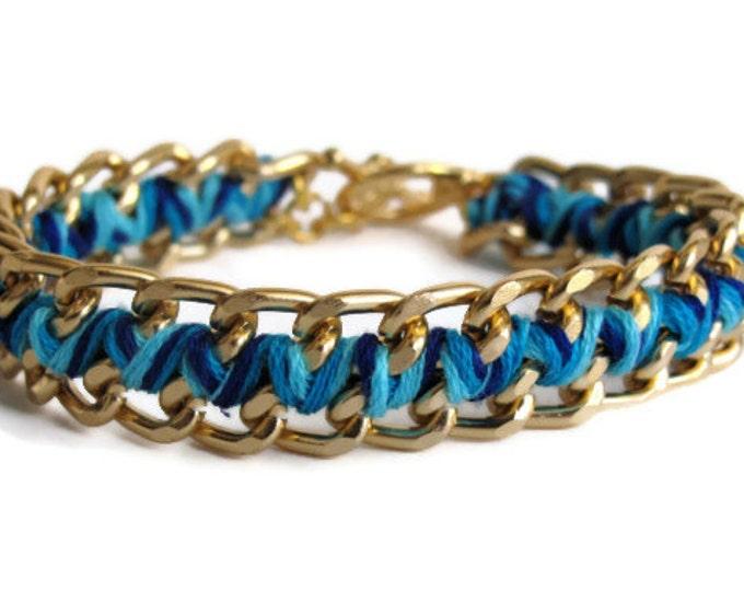 Ocean Blue Zig Zag Bracelet