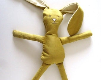 Organic Sunny Bunny Soft Doll Eco Friendly Toy All Natural Toy