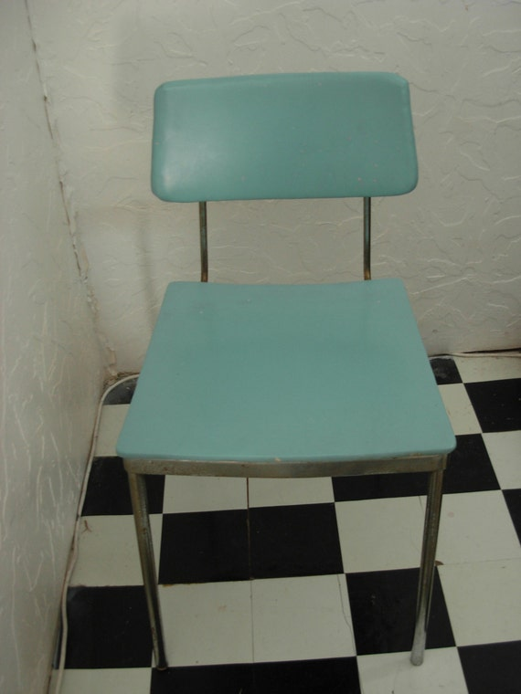 Fabulous Powder Blue Mid Century Side Chair Modern Seating Accent Chair