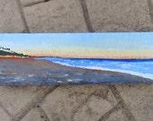 "Original Landscape Painting Beach in acrylic 4""x12"""