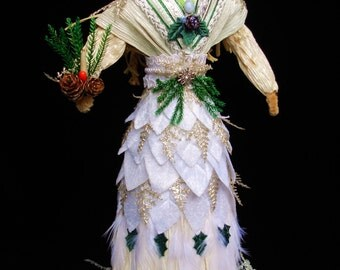 White and Silver Yule Goddess