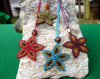 Macrame Flower of your choice with Acaid Seed