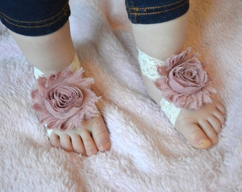 Barefoot sandals, baby sandles Baby sandals, baby accessories, baby shoes, baby shower gift, pink baby shoes, Barefoot baby. elastic sandals