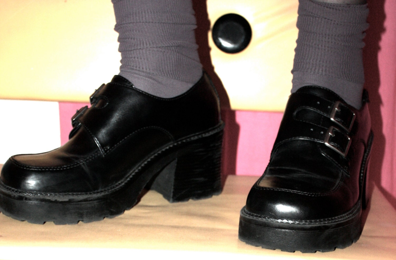 90s black platform shoes mudd 8 5m
