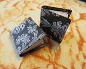 Black Scrolling Pattern Journal Book - Dollhouse Miniature