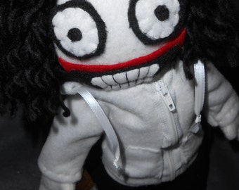 14 Inch Jeff the Killer Plush with Zip Up Hoodie