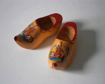 Vintage Wooden Clogs Holland souvenir