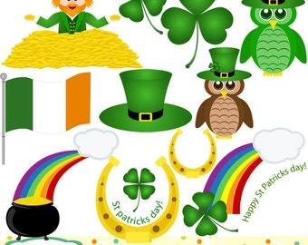 Saint patrick's day, clip art set, 11 designs. INSTANT DOWNLOAD for Personal and commercial use.