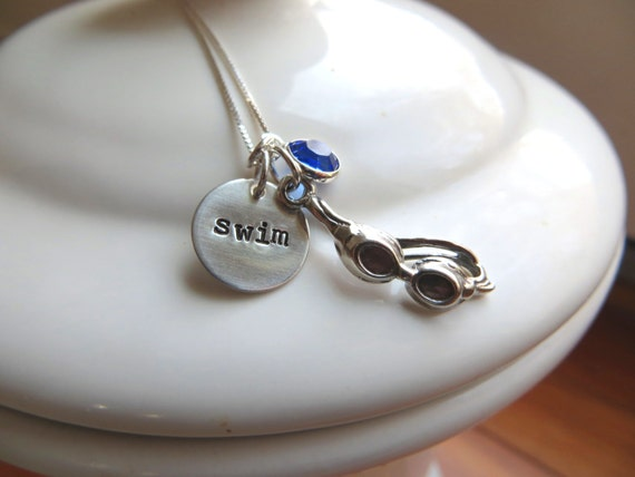 swimmer jewelry items similar to to swim necklace with sterling 5752