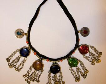 SALE Leena Necklace Vintage Afghani Statement Necklace