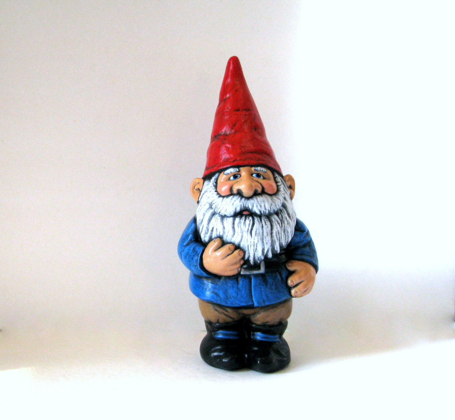 Ceramic Gnomes To Paint: Ceramic Garden Gnome 14 Inches Hand Painted Lawn Or Garden