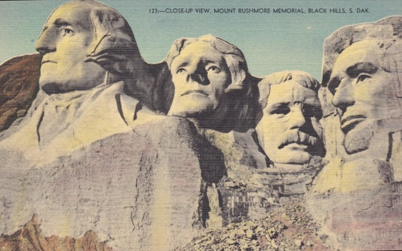 mount rushmore south dakota closeup view by agnesofbohemia