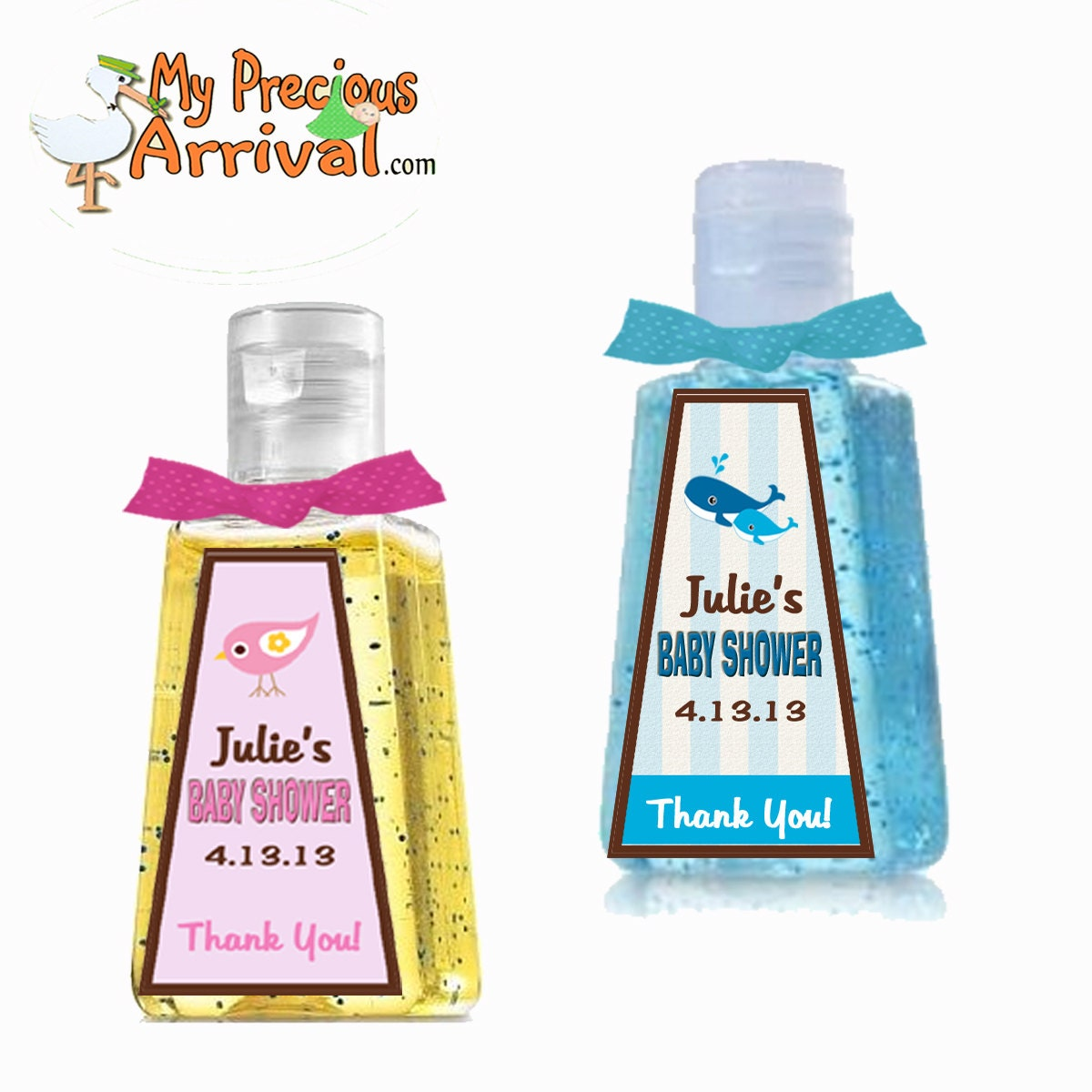 DIGITAL Personalized 1 Oz. Hand Sanitizer Label Favors Baby