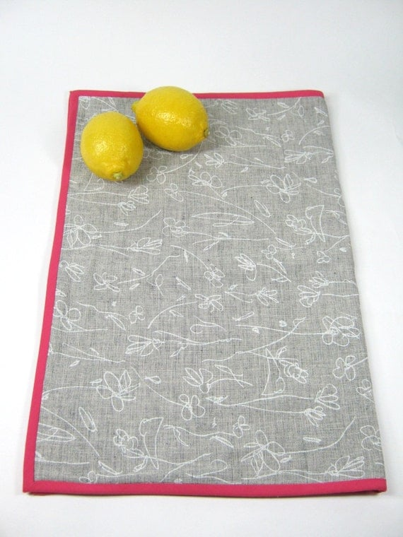 hot pink kitchen accessories zeal mat | Pink grey dish drying mat Small kitchen cloth by ...